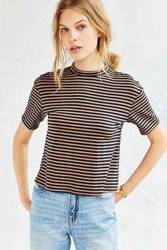 UrbanOutfitters Silence + Noise Jackie Mock-Neck Tee Found on my new favorite app Dote Shopping #DoteApp #Shopping