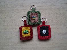 Ravelry: Button Key Ring pattern by Frankie Brown