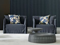 2 seater sofa with removable cover GHOST 09 by Gervasoni design Paola Navone