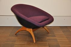 Lurashell Pod Chair 1960's seating designed by Walter S Chenery for Lurashell