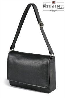 Buy The British Belt Company Black Leather Messenger from the Next UK online shop Latest Fashion For Women, Mens Fashion, Messenger Bag Men, Briefcase, Uk Online, Black Leather, British, Belt, Retro