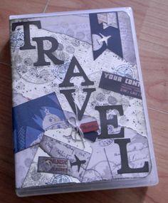 Kreatives Reisetagebuch, eingepackt in einer stabilen Hülle kann es überallhin mitgenommen und kreiert werden