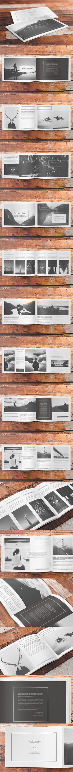 Minimalfolio #6 is a horizontal photography portfolio A4 brochure.