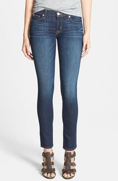 Hudson Jeans 'Collette' Skinny Jeans (Stella) at Nordstrom.com. Gentle fading lends natural-looking wear to versatile medium-wash jeans cut with a flattering skinny silhouette.