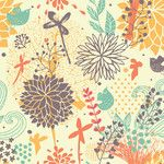"""<strong>Fantastically Removable 5' x 20"""" Floral Wallpaper</strong> by Walls Need Love"""