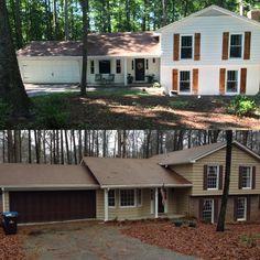 Before & After 70s split level transformation