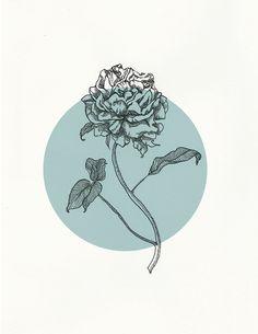 Peony Logo on Behance Peony Illustration, Floral Illustrations, Graphic Design Illustration, Peonies And Hydrangeas, Peonies Garden, Peonies Bouquet, White Peonies, Logo Rond, Dr Logo