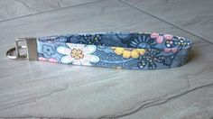 Handmade Fabric Key chain Gray Yellow and by PurplePockets4ACure, $6.00