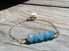 "Kyanite Beaded Gold ""Full of Grace"" Bracelet by ALEPHTAVJEWELRY on Etsy https://www.etsy.com/listing/91599679/kyanite-beaded-gold-full-of-grace"