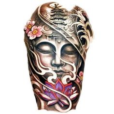 Image result for japanese tattoos buddha and wave