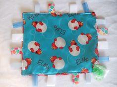 SatinTag-Blanket-Taggie-Dummy-Holder-and-FREE-Toy-Link-Elmo Elmo, Blankets, Lunch Box, Toys, Link, Free, Carpet, Blanket, Games