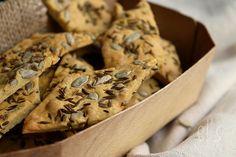 Crackers aux graines & farine de pois-chiches GF