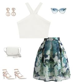 """""""Untitled #245"""" by classic-e on Polyvore featuring Chicwish, BCBGMAXAZRIA, Valentino, Kate Spade, Samira 13 and Linda Farrow"""