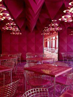 Panton Spiegel canteen in Hamburg; photo: Michael Bernhardi/Spiegel Verlag