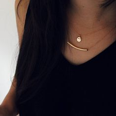 """""""Welcoming this super magical month with the Smiley & Tube necklace ❄⛄They're also available in Sterling Silver.  Dando la bienvenida a este mes súper…"""""""