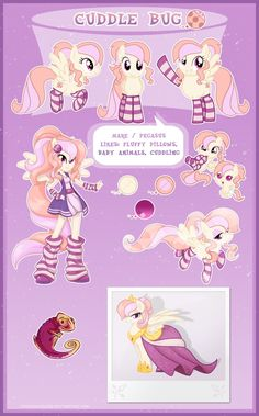 Mlp Ultimate Reference Guide | Cuddle Bug - Ultimate reference guide by LessaNamidairo