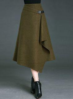 Vintage Pure Color asymmetrische A-Linie Rock - . blazerfashion : Vintage Pure Color asymmetrische A-Linie Rock - . Skirt Outfits, Casual Outfits, Fashion Outfits, Womens Fashion, Work Outfits, Fashion Clothes, Blouse Vintage, Vintage Skirt, Sewing Blouses
