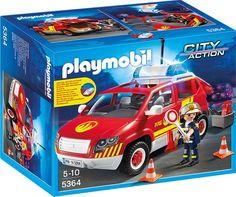 PLAYMOBIL 5364 - Brandmeisterfahrzeug mit Licht und Sound - Serie: Playmobil Feuerwehr