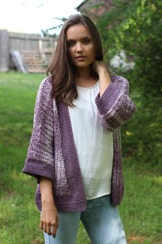 Free Pattern Friday – Cassia Cardigan knit in Fibra Natura Good Earth cotton/linen.