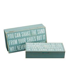 Take a look at this 'Shake the Sand' Box 2-Piece Set by Primitives by Kathy on #zulily today!