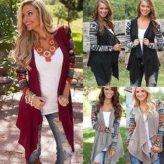Women's Cardigan Loose Sweater Long Sleeve Knitted Outwear Jacket Coat Hot