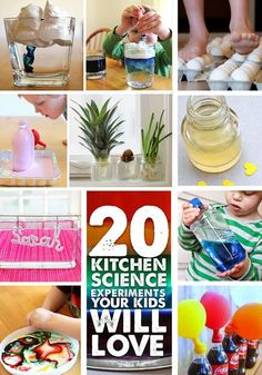 20 Kitchen Science Experiments for Kids - So many great ways to have fun and squeeze in a little STEM at home. #3 is next on our list!
