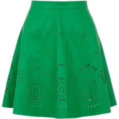 Yumi PU skater skirt ($23) ❤ liked on Polyvore featuring skirts, bottoms, green, clearance, circle skirt, flared a line skirt, a line skirt, green circle skirt and flared skirt