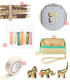 Gold Office Accesories by justbellablog- our gold washi tape was featured! Thanks @Christine Shankowsky xo