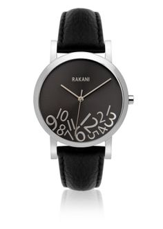 New Rakani Watches - Fashionably Late Collection Rakani What Time? Silver on Titanium Watch with Black Leather Band online. Enjoy the absolute best in Raymond Weil mens watches from top watches store -watchesstyles Popular Watches, Watches For Men, Titanium Watches, Things To Buy, Stuff To Buy, Silver Man, Latest Fashion, Men Fashion, Black Leather