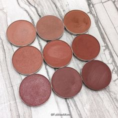 Makeup Geek Medium brown transition shade eyeshadows pictures and swatches