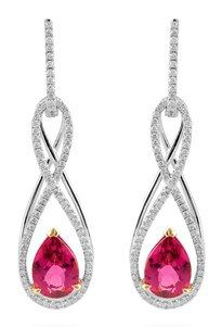 Simon G's Fabled Collection Earrings are a stunning drop earring with pear cut gemstones.