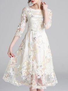 939c29ec302 Buy Summer Dresses Midi Dresses For Women from Fantasyou at Stylewe. Online  Shopping Stylewe Prom Dresses Summer Dresses Party A-Line Crew Neck Sleeve  ...