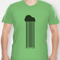 Barcode Rain T-shirt  ski code