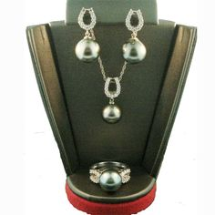 South Sea Pearl and Diamond Necklace, Earring and Ring
