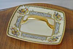 Noritake Morimura Handled Plate, Vintage Noritake Serving Plate by… Serving Plates, Serving Dishes, Noritake, Plaque, 1930s, My Etsy Shop, Handle, Vintage, Pattern