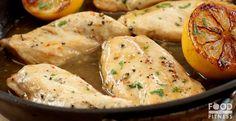 Sorrento Lemon Chicken | Juicy chicken breasts in a silky sweet lemon glaze | FoodForFitness.co.uk