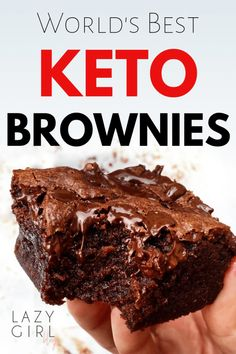 Who says you can't eat brownies when you're on the keto diet? These keto brownies are the best. I've gone through test batch after test batch trying to find the perfect keto brownie recipe. Until I made these Keto Brownies. World's Best Keto Brownie Keto Brownies, Keto Fudge, Keto Cheesecake, Sugar Free Brownies, Healthy Brownies, Almond Flour Brownies, Coconut Brownies, Cream Cheese Brownies, Avocado Brownies