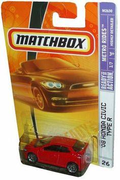 Mattel Matchbox 2007 MBX Metro Rides 1:64 Scale Die Cast Metal Car # 26 - Red Color 3 Door Hatchback 2008 Honda Civic Type R by MBX. $10.95. Realistic Details. Diecast Metal & Plastic Parts. 1:64 Scale. For age 3 and up. Mattel Matchbox 2007 MBX Metro Rides 1:64 Scale Die Cast Metal Car # 26 - Red Color 3 Door Hatchback 2008 Honda Civic Type R