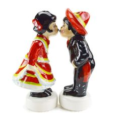 #Ceramic #Mexican #salt and #pepper #shaker  - HeritageGiftOutlet.com  - #gifts #gift #ideas #products #ceramic #cute #funny #kitchenware #cook #kitchen #kiss #mexican