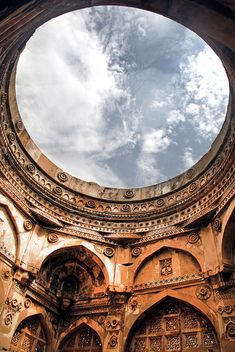 15th century Great Mosque (Jami Masjid) in Champaner, Gujarat, India.  Follow - www.pinterest.com/rOKr6