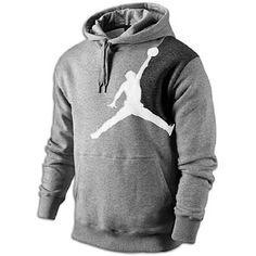 8b6c79f4129d12 Jordan Jumbo Jumpman Hoodie - Men s - Dark Grey Heather White Black---sweet  J-Brand hoodie.