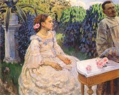 Self Portrait with Sister - Victor Borisov-Musatov