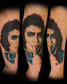 I got this tattoo because I LOVE Rocky Horror Picture Show. It took a little of 4 hours and hurt like hell, but was WELL worth it.  Done by Tyler Turnbull @ Rose and Anchor Tattoos in Katy, TX.