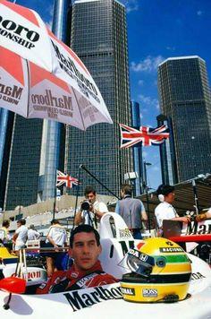 Ayrton Senna in Detroit