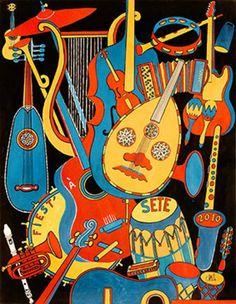 Fiest'A Sète 2010, 14° édition - Affiche : Christophe Vilar