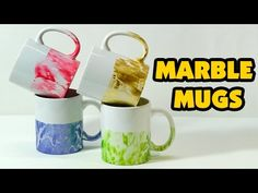 Water Marble Mugs | Poise and Purpose - YouTube