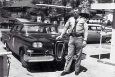 '58 Edsel Squad Car and it's proud officer.