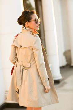 Beige Out :: Bow dress & Trench coat
