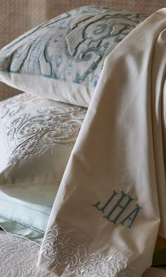 With subtle dobby stripes, our exclusive Resort Variegated Stripe Sheets are designed for creating your own customized bedding ensemble.