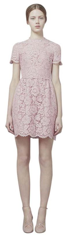 Valentino Lace Bambolina Dress. Free shipping and guaranteed authenticity on Valentino Lace Bambolina Dress at Tradesy. Detailed with pretty scalloped trims and soft, fla...